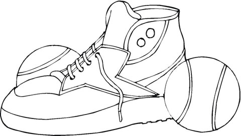 Tennis Shoes coloring page - Free Printable Coloring Pages