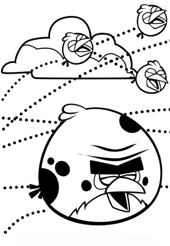 Terence And The Blues Birds Coloring Page