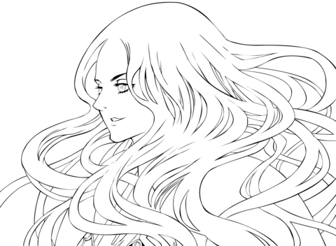 Teresa from Claymore coloring page