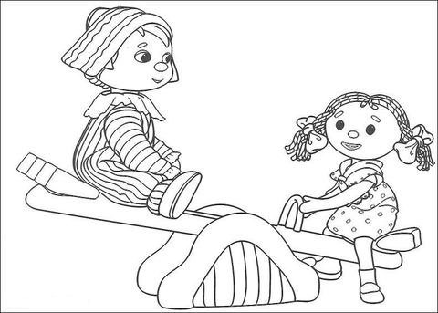 Andy Pandy and Looby Loo coloring page