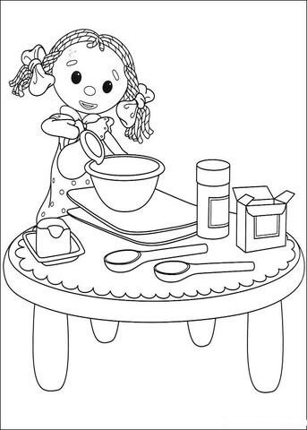 Looby Loo Is Playing With The Kitchen Set  coloring page