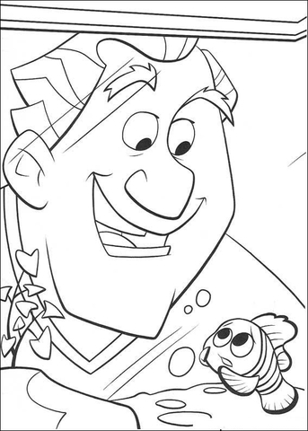 Dr. Philip Sherman And Nemo  coloring page