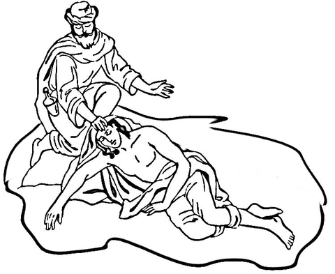 The Good Samaritan coloring page - Free Printable Coloring Pages