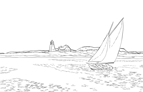 The Long Leg by Edward Hopper coloring page