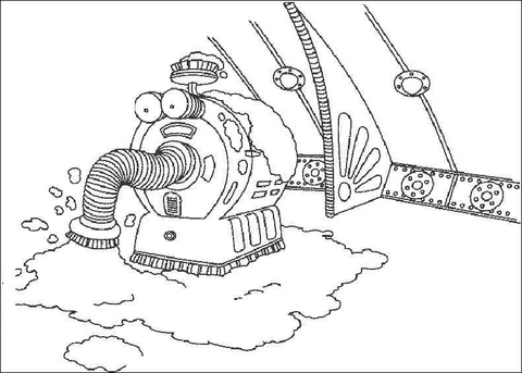 The Noo Noo, The Teletubbies Vacuum Cleaner coloring page