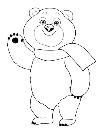 The Polar Bear Winter Olympic 2014 Mascot coloring page