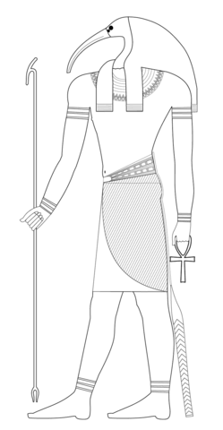 Thoth coloring page