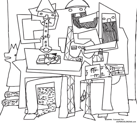 Midnight Ride of Paul Revere by Grant Wood coloring page - Free ...