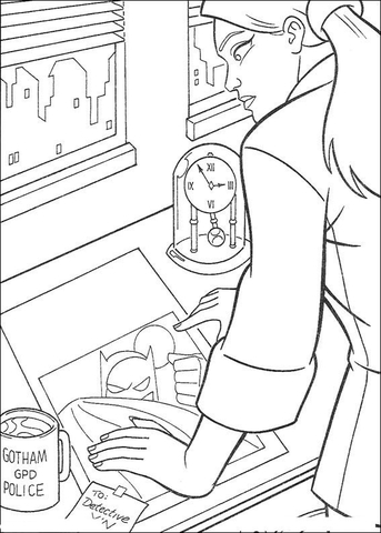 Detective  coloring page