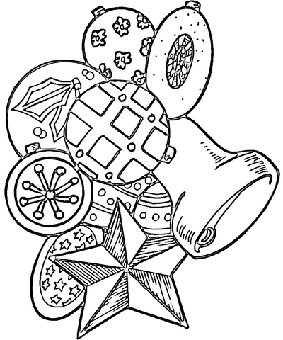 Toys for Christmas coloring page