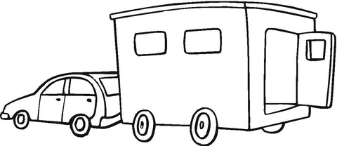 trailer coloring page - Horse Trailer Coloring Pages