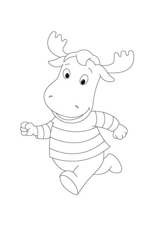 Tyrone Is Running As Fast As He Can! coloring page