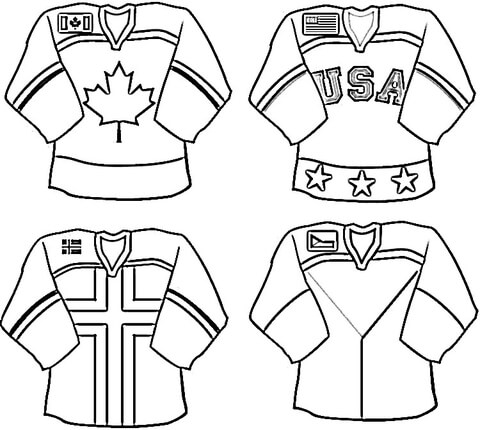 NHL Uniforms coloring page