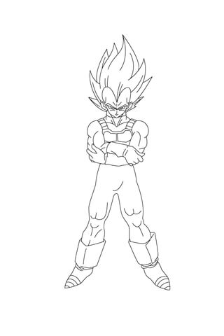 Vegeta Is Angry coloring page