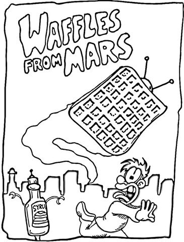 Waffles from Mars  coloring page