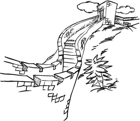 Wall Of China  coloring page