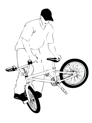 Whiplash BMX coloring page