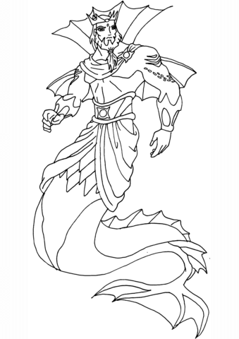 Winx Club King Neptune coloring page