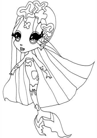 Winx Club Nissa coloring page - Free Printable Coloring Pages