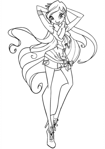 Winx Stella coloring page