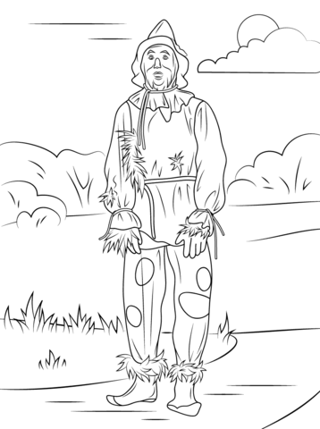 Wizard of Oz Scarecrow coloring page