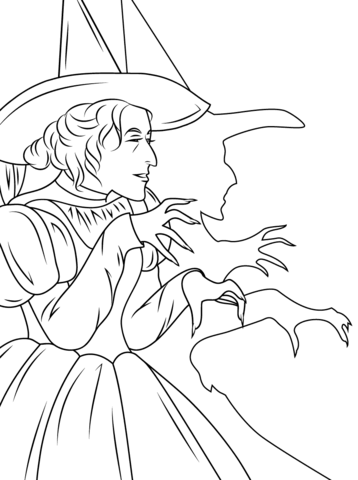 Wizard of Oz Wicked Witch coloring page