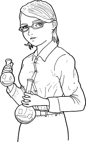Cashier In A Shop coloring page Free Printable Coloring Pages