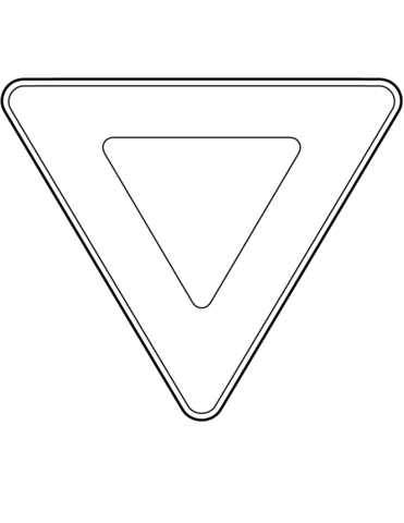 Canada Yield Sign coloring page
