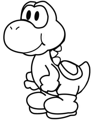 Yoshi As A Sprinter Coloring Page