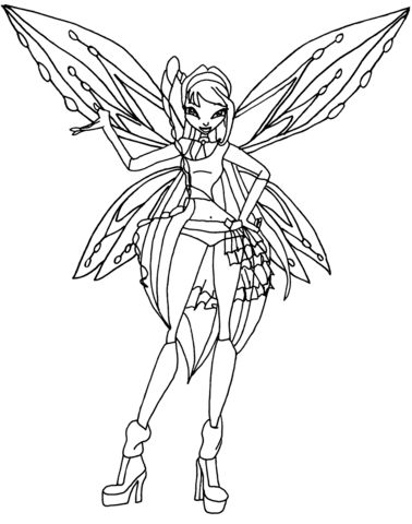 Zoomix Musa coloring page