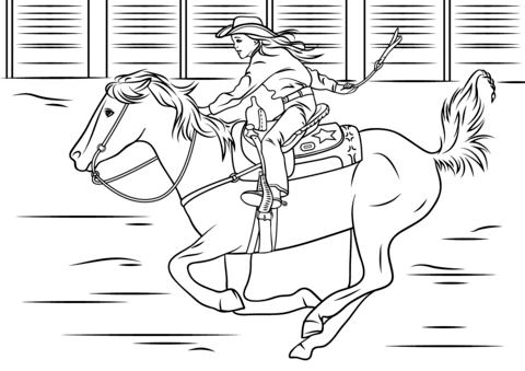 cowboy riding a bull coloring page free printable pages - Cowboy Cowgirl Coloring Pages